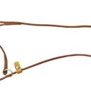 Spezial-Ausbildungsleine mit Halsung 1,20m aus Leder